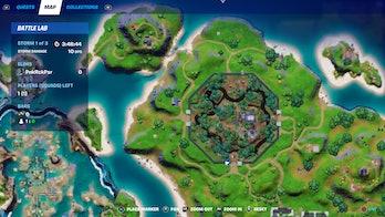 fortnite week 7 artifact location 1 map