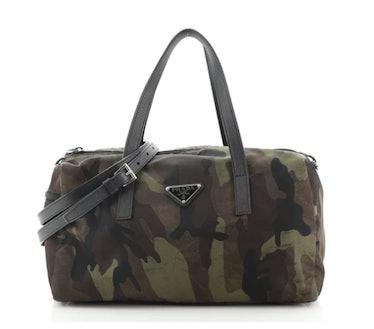 Prada's vintage Convertible Camouflage Boston bag.