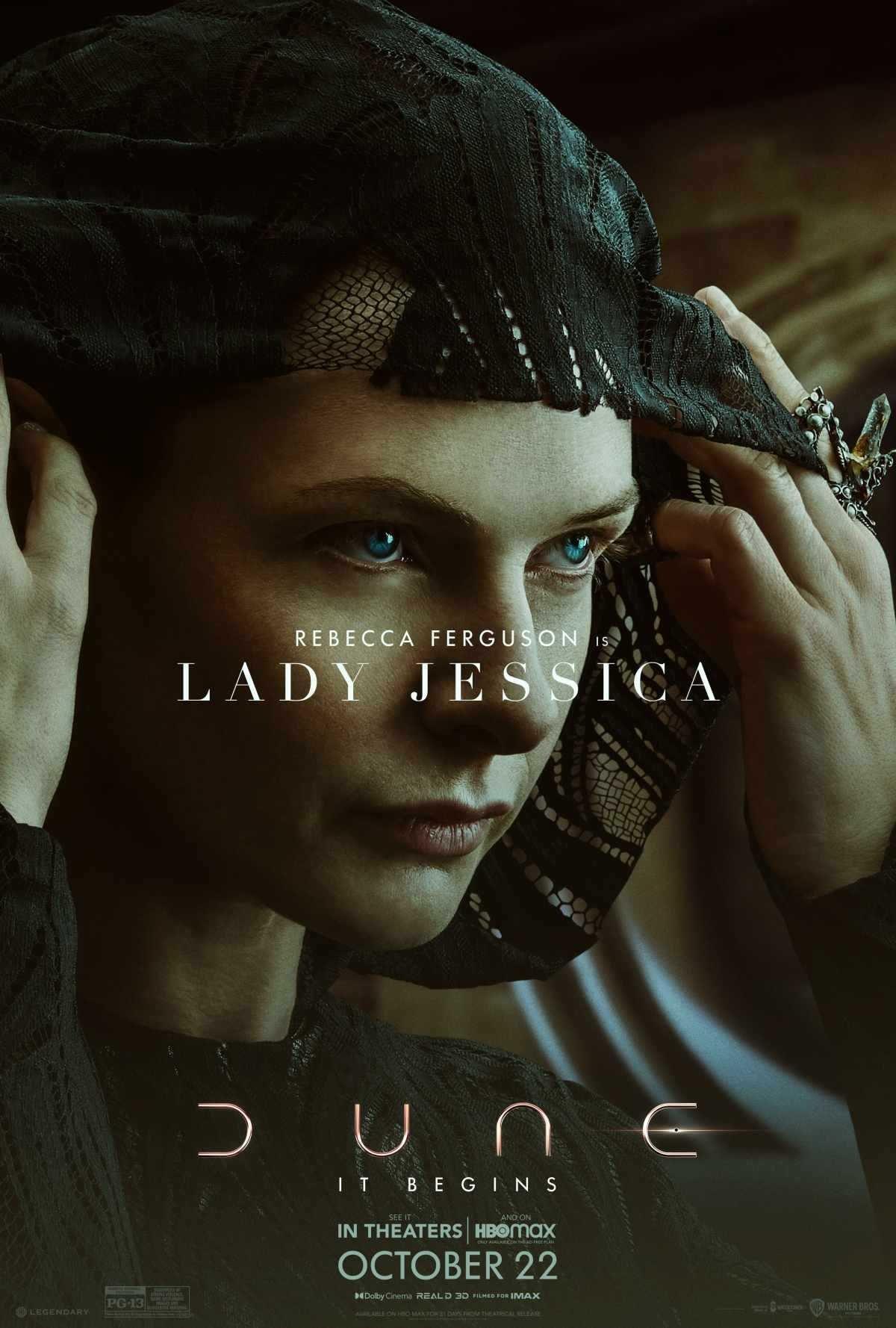 Rebecca Ferguson as Lady Jessica in 'Dune'