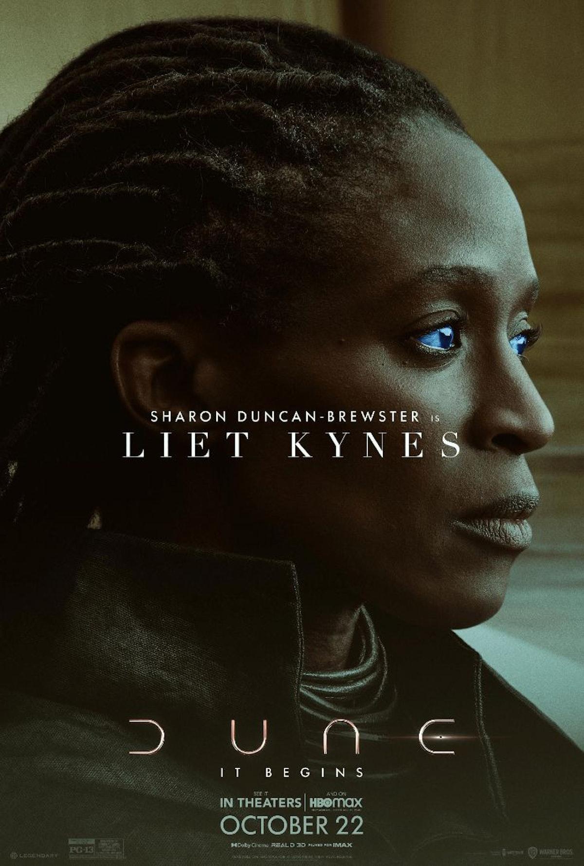 Sharon Duncan-Brewster as Dr. Liet-Kynes in 'Dune'
