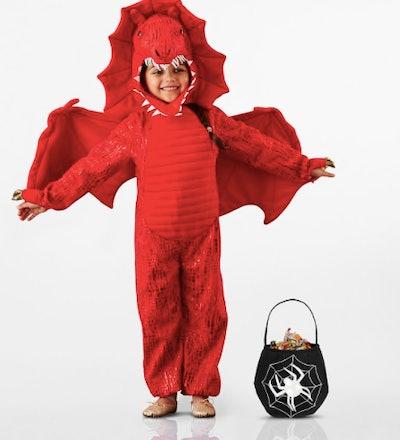 Red dragon kid costume