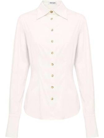 Cecilia Pointed-Collar Shirt from Anna Quan, available on Farfetch.