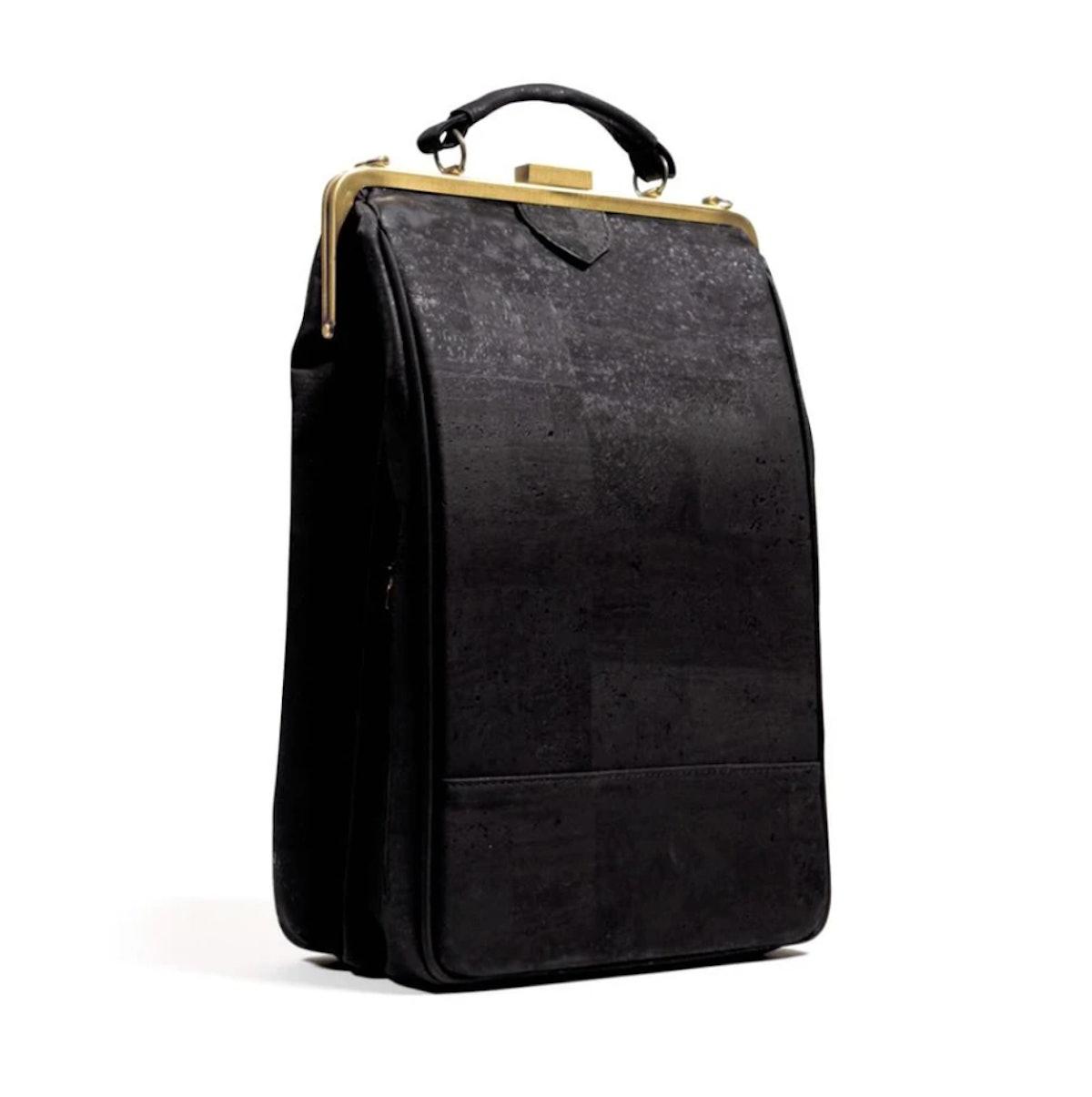 Laflore Paris' stylish black convertible backpack purse.