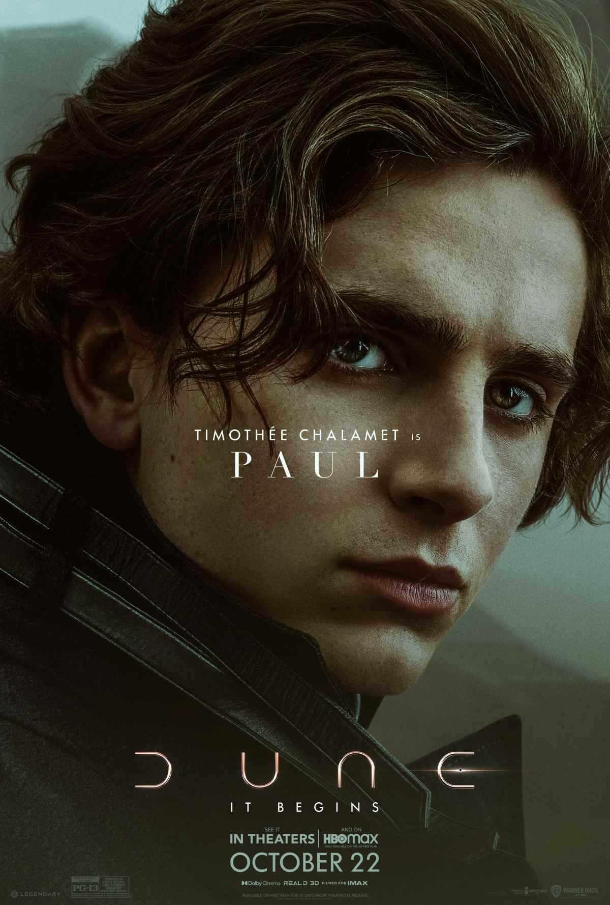 Timothée Chalamet as Paul Atreides in 'Dune'