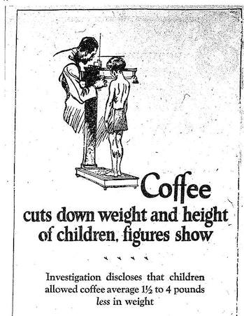 Postum ad, The Boston Daily Globe, 1925