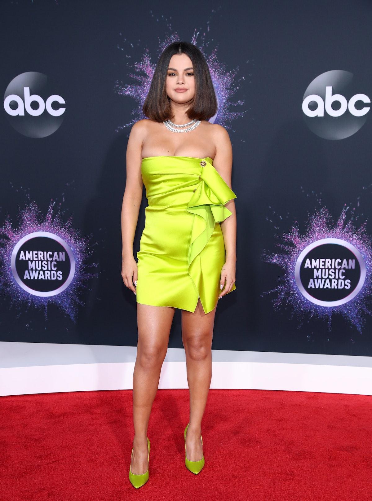 Selena Gomez wearing green