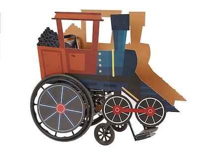 Child Wheelchair Steam Train Costume