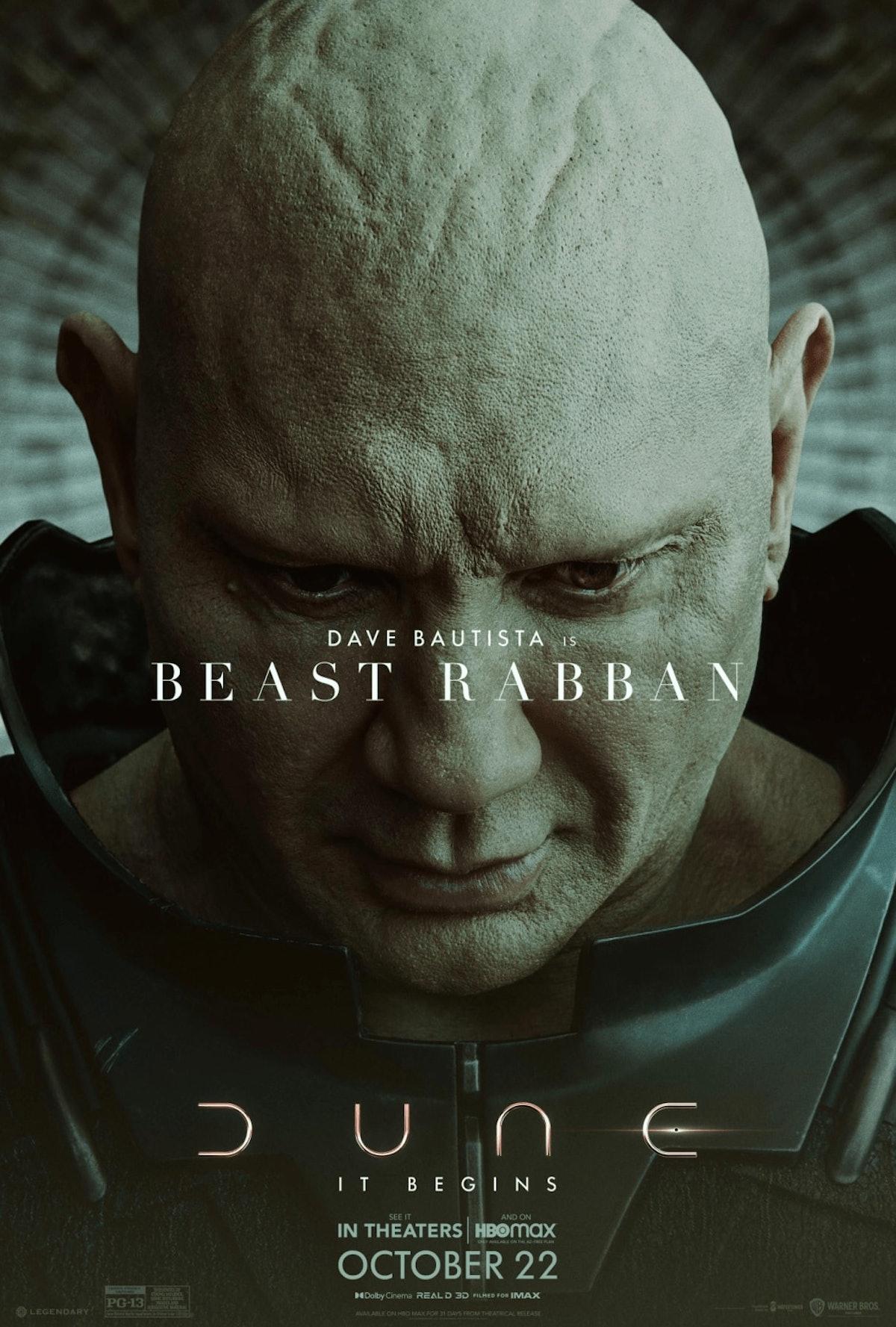 Dave Bautista as Glossu Rabban in 'Dune'