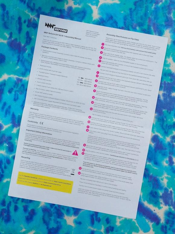 MNT Reform DIY laptop assembly manual