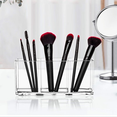 HBLIFE 3 Slot Cosmetic Brush Organizer