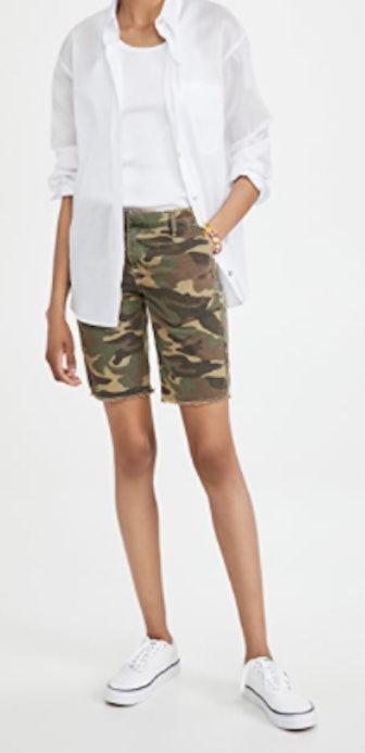 SUNDRY's Camo Bermuda shorts.
