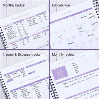 SOLIGT Monthly Budget Planner Book (Undated)