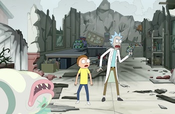 rick and morty space semen