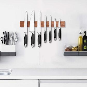 Utoplike Wood Magnetic Knife Strip