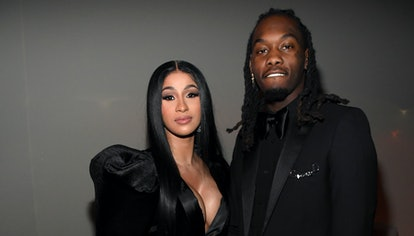 Cardi B and Offset attend Sean Combs 50th Birthday Bash presented by Ciroc Vodka on December 14, 201...