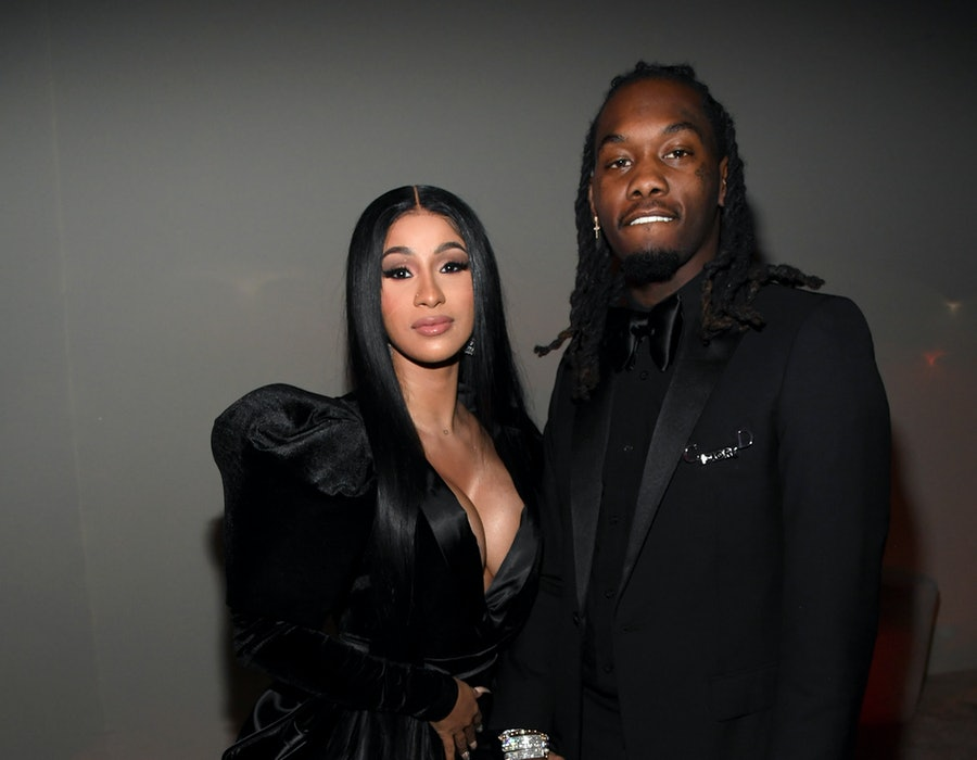 Cardi B and Offset attend Sean Combs 50th Birthday Bash presented by Ciroc Vodka on December 14, 2019 in Los Angeles, California.