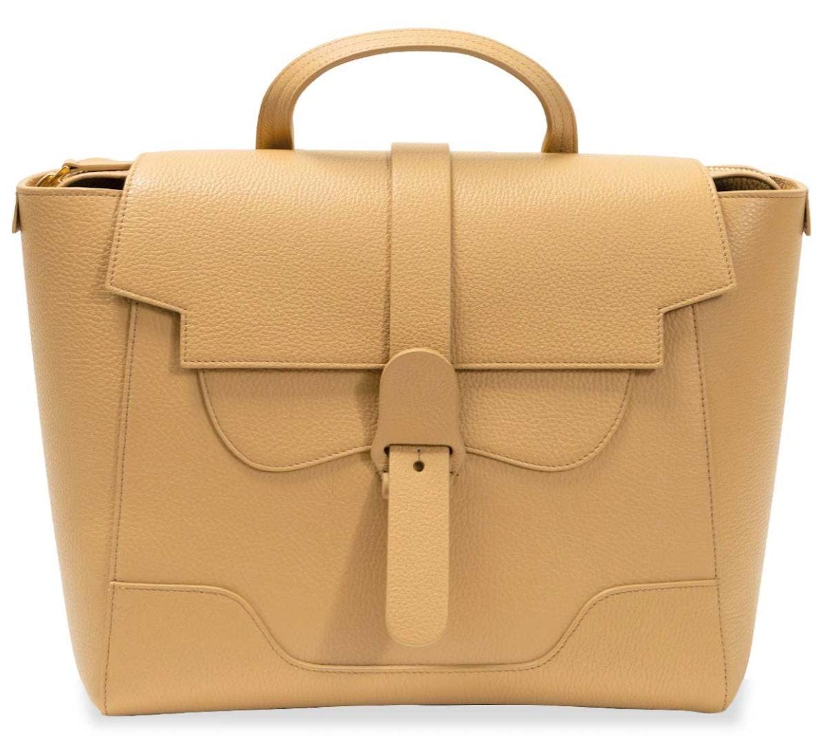 SENREVE's dolce butterscotch Maestra laptop bag.