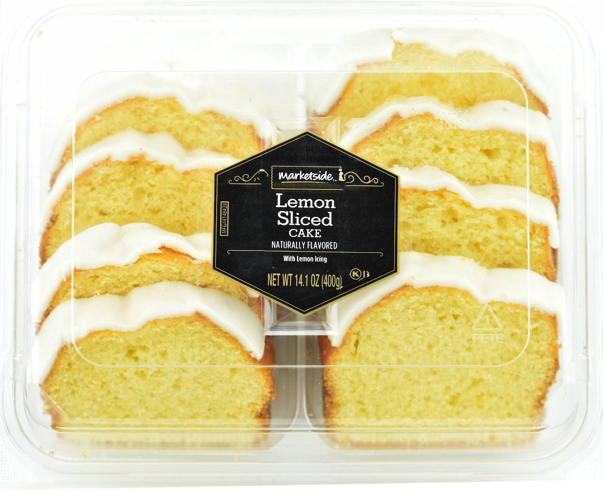 Fresh Bakery Marketside 8ct Lemon Iced Sliced Cake, 14.1oz
