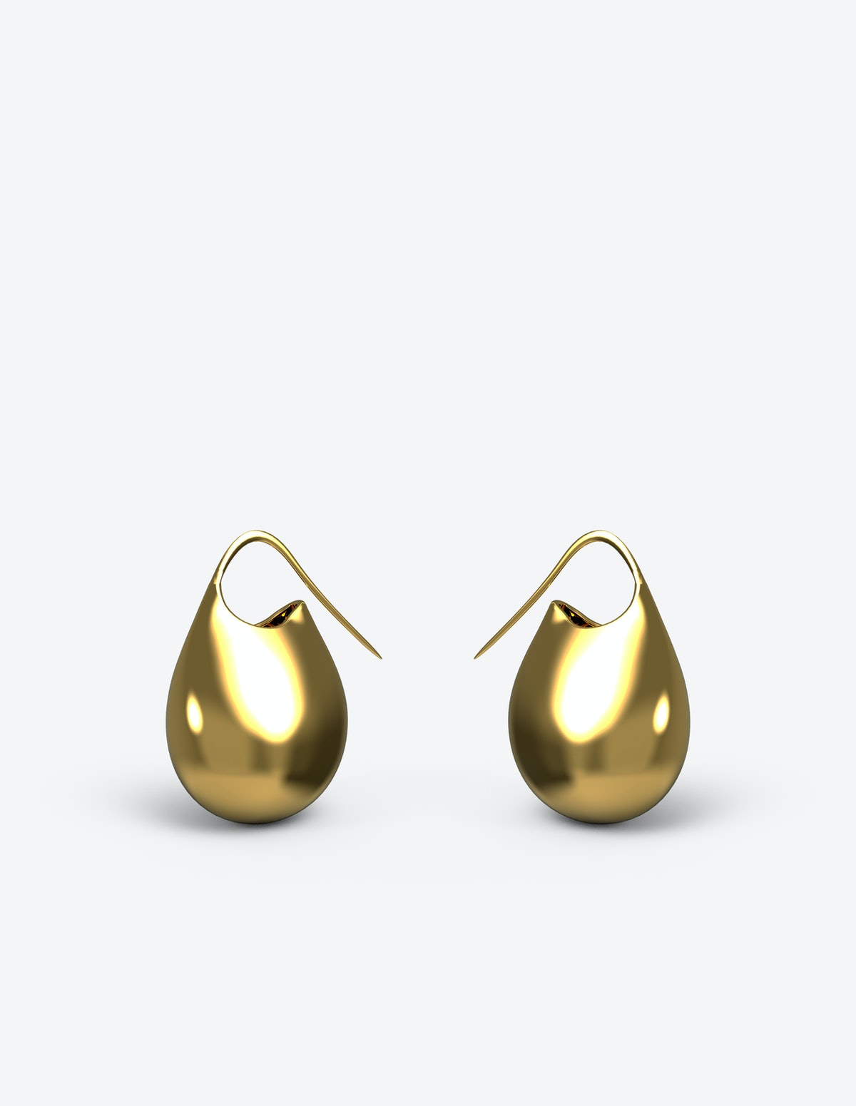 Gold vermeil Jug Drops from Afro-futurist jewelry brand Khiry, designed by Jameel Mohammed.
