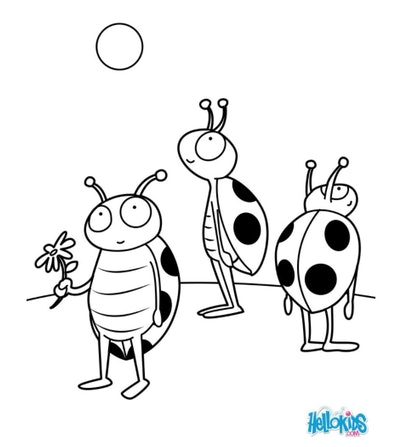 cartoony ladybug coloring page