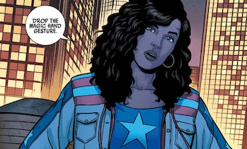 America Chavez unleashing some of her signature snark in Young Avengers Vol. 2 #1