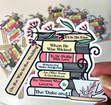 Bridgerton Book Stack Die Cut Sticker