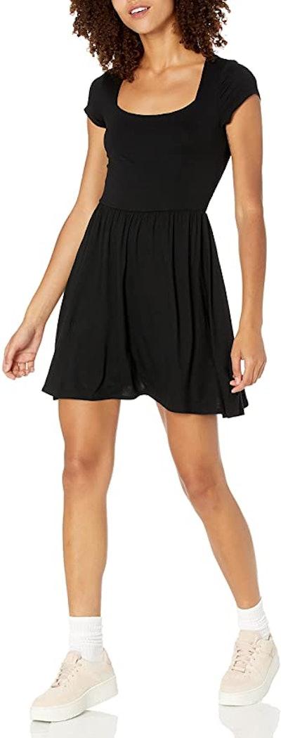 Wild Meadow Short Sleeve Square Neck Mini Dress