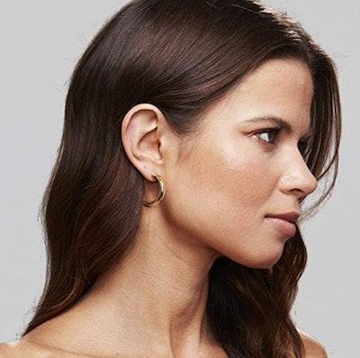 PAVOI Chunky Open Hoop Earrings