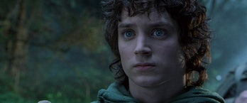 Elijah Wood as Frodo in the Lord of the Rings film trilogy