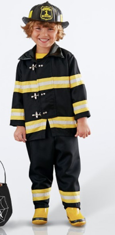 Child's firefighter costume