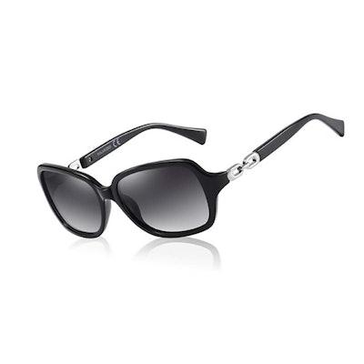 AOMASTE Retro Square Polarized Sunglasses