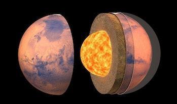 Inside of Mars