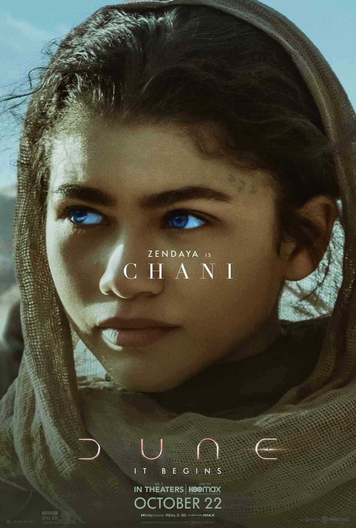 Zendaya as Chani in 'Dune'