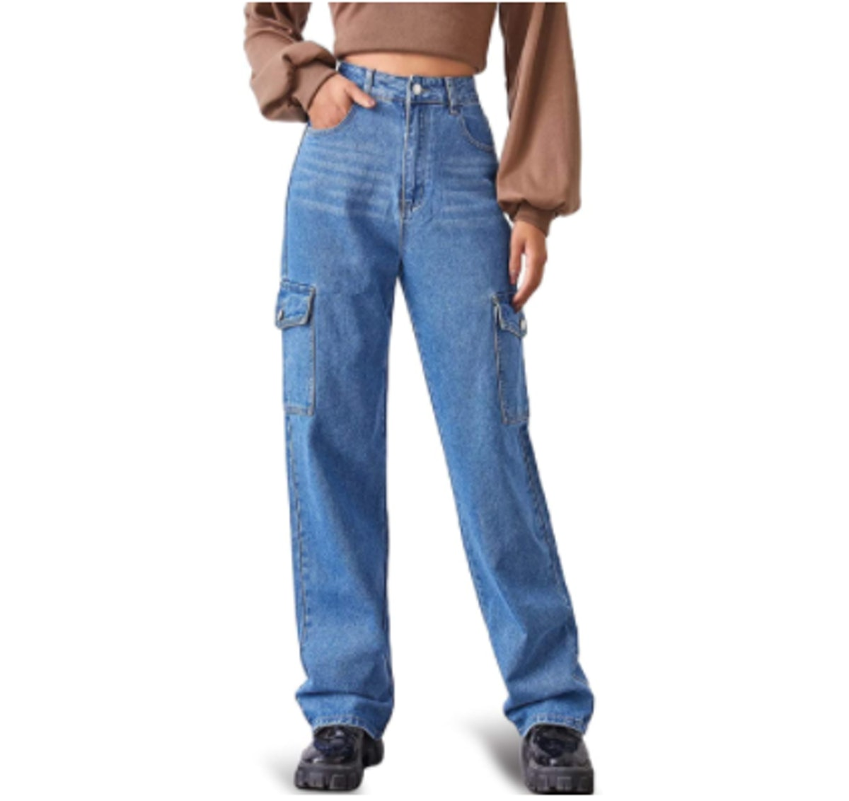 MUMUBREAL High Waist Baggy Jeans