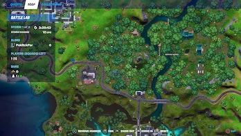fortnite ferrari time trial location 1 map