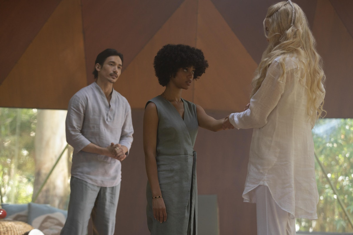 Manny Jacinto, Tiffany Boone and Nicole Kidman in 'Nine Perfect Strangers'