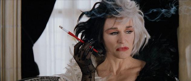 101 Dalmations stars Glenn Close as Cruella DeVil.