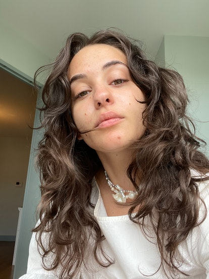 Isabella with her natural, air-dried hair