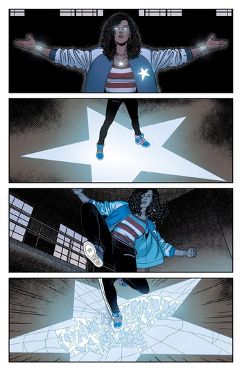 America Chavez creates a star portal in Young Avengers Vol. 2 #7