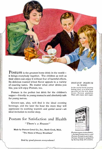 Post cereal ad for Postum