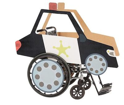 Child Wheelchair Police Car Costume