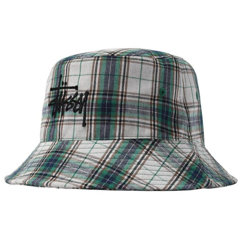 Madras Plaid Logo Bucket Hat