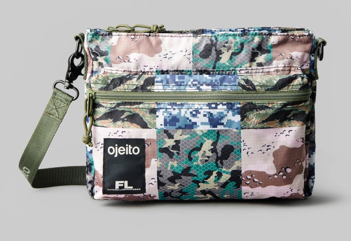 Ojeito's colorful patterned large go bag.