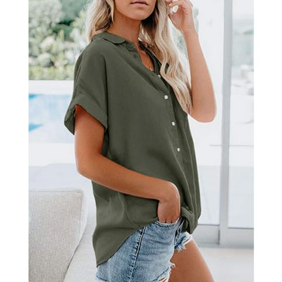 Beautife Collared Button Down