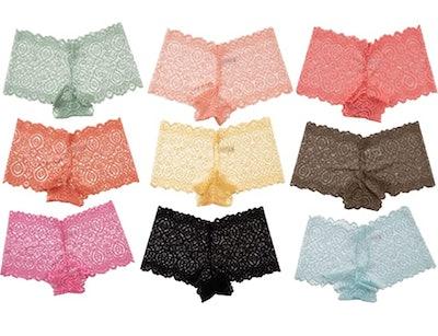 Alyce Intimates Lace Boyshort Panty (10-Pack)