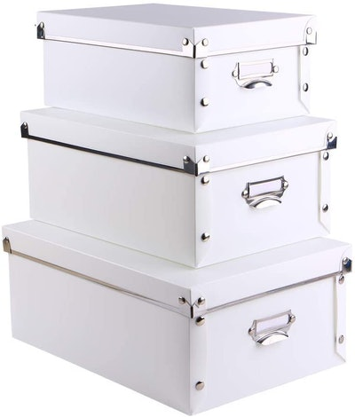 SEEKIND Decorative Storage Boxes (Set of 3)