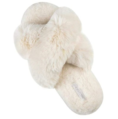 HALLUCI Soft Plush House Slippers