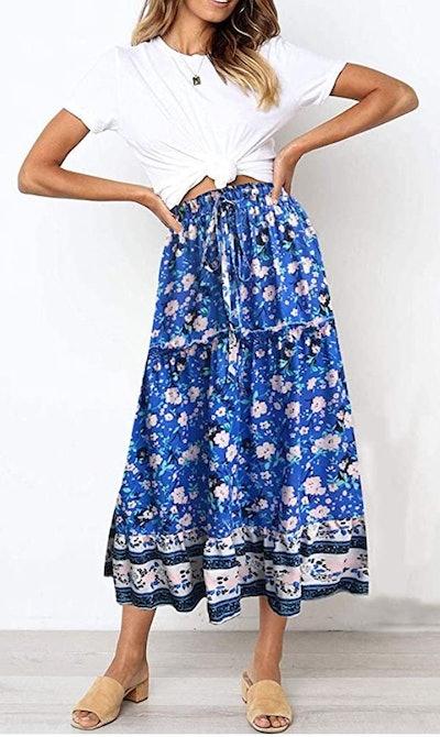 ZESICA A Line Maxi Skirt