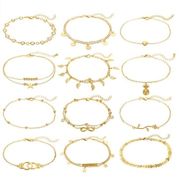 FUNEIA Anklets (12 Pieces)