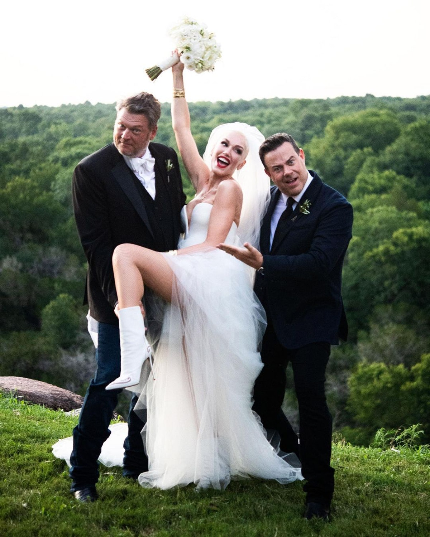 Blake Shelton and Gwen Stefani on their wedding day